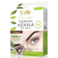 D Eyebrow Expert Pudrova HENNA Eyebrow Tint 4gr. 4.0 Brown Къна за вежди Комплект Кафява
