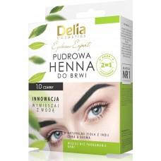 D Eyebrow Expert Pudrova HENNA Eyebrow Tint 4gr. 1.0 Black Къна за вежди Комплект Черна