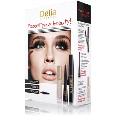 D Mascara Set Accent your beauty - 3D, Eye liner, Lip Gloss Starlike Подаръчен комплект