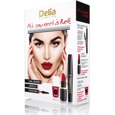 D Mascara Set All you need is Red - 3D, Lip Stick, Nail enamel Подаръчен комплект
