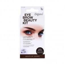 DEPEND 4930 Perfect Eye Eyebrow Beauty Kit DARK BROWN Сенки за Вежди Тъмно Кафяво