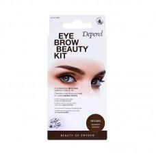 DEPEND 4931 Perfect Eye Eyebrow Beauty Kit BROWN Сенки за Вежди Кафяво