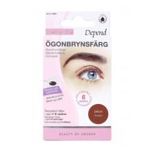 DEPEND 9001 Eyebrow Colour BROWN Боя за вежди и мигли Кафява